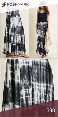 "Gray Tie Dye Print Maxi Skirt Gray Tie Dye Print Maxi Skirt  •Ankle length •Shades of Light and charcoal Gray with white and some black.  •Elastic waist •Fabric: 65% Cotton 35% Polyester  Length measurements: Small:     40"" Medium: 41"" Large:     41""  #GU21327  ➖Price is firm unless bundled➖ Skirts"