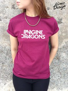 Imagine Dragons Tshirt Top Band Fashion Rock por TheIconicDesignCo, £9.99