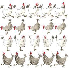 Las gallinas , lo admito me resultan unos animales muy simpáticos. Os he traído cuatro estampados originales hechos con gallinas Enlaces:...