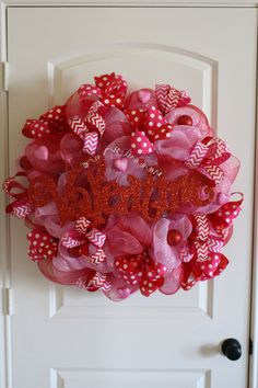 Hey, I found this really awesome Etsy listing at https://www.etsy.com/listing/176785681/valentines-deco-mesh-wreath