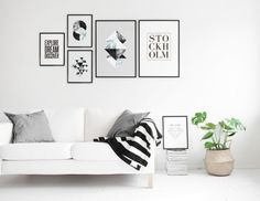 Scandinavian design with graphical prints from our webshop looks fantastic. Visit our website for more posters and prints online, www.desenio.com