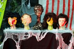 DIY creepy carnival heads - Bella Pop Halloween