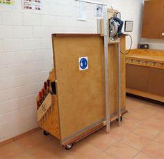 Vertikale Plattensäge und Materialwagen
