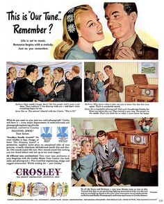 1945 ... romance begins with a melody! by x-ray delta one, via Flickr
