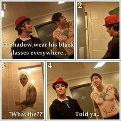 Whoaaah. Zacky AND M Shadows shirtless? Gimme a minute while I faint. WOWZA!