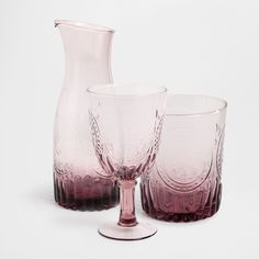 LILAC RAISED DESIGN GLASSWARE