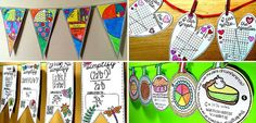 """Scaffolded Math and Science says, """"The great thing about math pennants is that they boost student confidence while adding to classroom decor! Fourth Grade Math, Third Grade Math, Second Grade, Math Resources, Math Activities, Math Classroom, Classroom Decor, Math Tools, Teaching Math"""