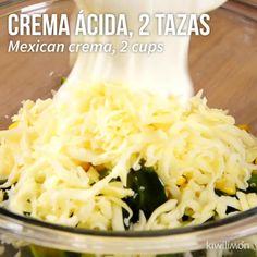 Gratín de Papas con Queso y Poblano - Hat Tutorial and Ideas Mexican Food Recipes, Vegetarian Recipes, Dinner Recipes, Cooking Recipes, Healthy Recipes, Burger Recipes, Healthy Soup, Sausage Recipes, Steak Recipes