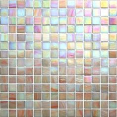 Kaleidoscope ColorGlitz Iridescent Glass Mosaic Tile, sold by the 1.15 s.f. sheet - Center Stage Coral