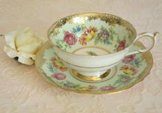 Antique Paragon By Appointment to H.M. The Queen & H.M. Queen Mary Tea Cup and Saucer by VintageFlares, $55.00