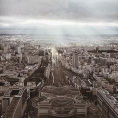 Urban beauty, Paris from above. #urban #urbanexploration #paris #urbanlandscape #traintracks #light #explore #photography #photographer #livefolk #liveauthentic #slowliving #vscomoment #vscoauthentic #urbanexplorer #landscape #lifestyle