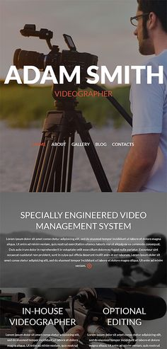 Videographer #Responsive #Website #Template. Additional features ...