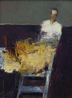 "Saatchi Art Artist: Danny McCaw; Oil 2014 Painting ""ORANGE DRESS"""