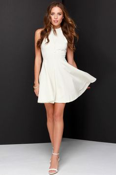 Others Follow Destiny Ivory Skater Dress