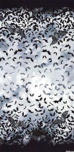 Wicked Eve - Bat Double Border - Mist Gray
