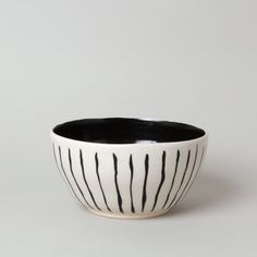 Image of Black Line Planter Bowl