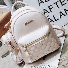 a4f33aa60b Mini Black White Lady Bag Snap Rivets Mesh Lingge PU Backpack Cute Mini  Backpacks
