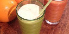 Piristävä appelsiinismoothie Lassi, Milkshakes, Glass Of Milk, Smoothies, Cooking Recipes, Drinks, Food, Smoothie, Drinking