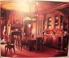 Art Nouveau - Dining Room, Nancy, France (Eugene Vallin, Victor Prouvé)