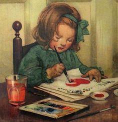 Bimba che dipinge