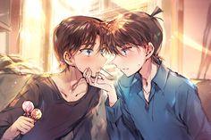 Manga Art, Manga Anime, Detective Conan Shinichi, Kaito Kuroba, Detective Conan Wallpapers, Kaito Kid, Detektif Conan, Kudo Shinichi, Magic Kaito