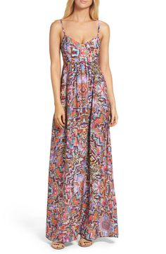 Colby Woven Maxi Dress,                         Main,                         color, Kalidis Print