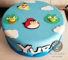 bolo Angry Birds Amor de CupCake