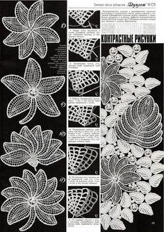motifs of leaves, flowers