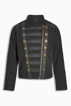 Charcoal Military Jacket (3-16yrs)
