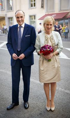 """MYROYALSHOLLYWOOD FASHİON:  Archduke Lorenz and Princess Astrid attended the """"Bal National"""", July 20, 2014, which proceeds the Belgian National Day."""