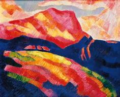 hartley mont sainte victoire red 1927 hartley uses color to press ...