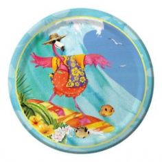 Flamingo Fun Dinner Plate -  Party Supplies, Ideas, Accessories, Decorations, Games - PartyNet