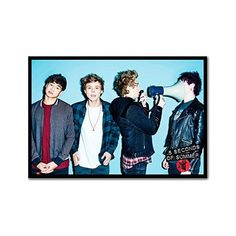 5Sos 5 Seconds Of Summer Megaphone Poster Magnetic Notice Board Black... ($99) ❤ liked on Polyvore featuring home, home decor, wall art, 5sos, framed posters, black framed wall art, magnetic message board, magnetic notice board and black poster