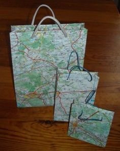 carte 018 Os Maps, Idee Diy, Travel Accessories, Birthday Party Themes, Paper Shopping Bag, Origami, Upcycle, Gift Wrapping, Blog