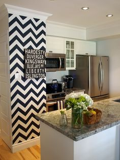 Tiny chevron wall