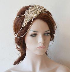 Bridal Headband, Wedding Hair Accessory, Wedding Headpiece, Wedding Hair…