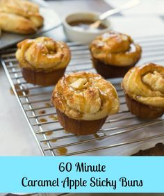 Make these Caramel Apple Sticky Buns in just 1 hour with this easy recipe!