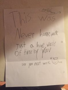 The teacher who received this lovely letter. | 19 Teachers Who Definitely Deserve A Raise