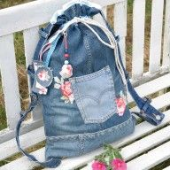 back made from jeans