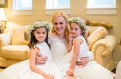 Flower girls and flower crowns.