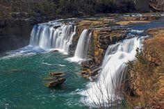 Little River Falls, Fort Payne, Alabama. March 8, 2013.