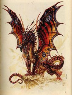 Dragon by Olivier Ledroit * Butterfly Dragon Hatchling Egg Baby Babies Cute Funny Humor Fantasy Myth Mythical Mystical Legend Dragons Wings Sword Sorcery Magic Art Fairy Maiden Whimsy Whimsical Dragon Medieval, Dragon Oriental, Cool Dragons, Dragon Artwork, Butterfly Dragon, Butterfly Wings, Peacock Butterfly, Monarch Butterfly, Dragon Pictures