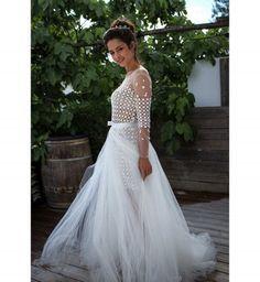 Robe de mariée 2016 : la robe en dentelle et tulle de Marie Laporte