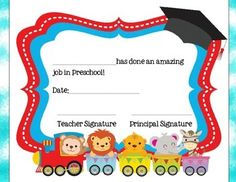 Preschool Graduation Certificates  Unique Preschool Diploma