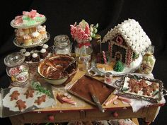 Christmas table for Debbie by goddess of chocolate, via Flickr