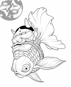 20 Types of Goldfish for Aquarium (Oranda, Shubunkin, Bubble Eye, Etc) Japanese Drawings, Japanese Tattoo Art, Japanese Tattoo Designs, Japanese Art, Tatuajes Irezumi, Irezumi Tattoos, Tattoo Sketches, Art Sketches, Art Drawings