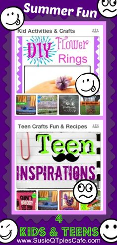 SusieQTpies Cafe: Summer Fun Activities for Kids and Teens
