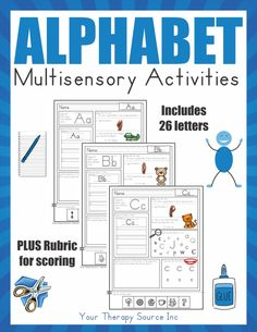Multisensory Alphabet Activities - Your Therapy Source Sensory Activities Toddlers, Movement Activities, Motor Activities, Handwriting Activities, Alphabet Activities, Pediatric Occupational Therapy, Pediatric Ot, Letter Recognition, Letter Tracing
