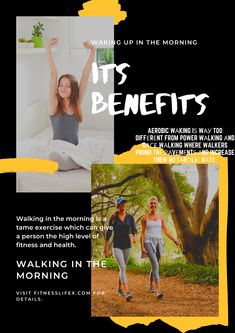 Walking In The Morning And Waking Up In The Morning 😍Its Benefits Race Walking, Power Walking, For Your Health, Aerobics, Better Life, Fudge, Wake Up, Healthy Life, Benefit
