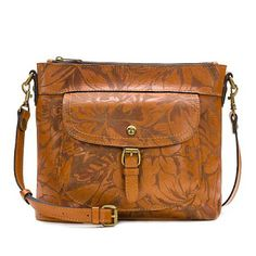 """""""As Is"""" Patricia Nash Tuscania Leather Shoulder Bag - Large Peruvian Painting Patricia Nash, Vintage Bags, Shoulder Handbags, Shoulder Bags, Leather Design, Leather Loafers, Leather Shoulder Bag, Messenger Bag, Satchel"""